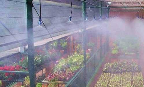 تنظیم رطوبت در گلخانه